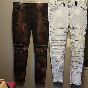 2 pairs skinny jeans